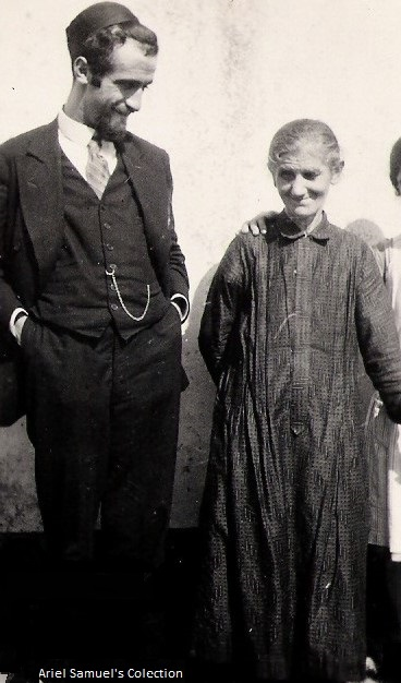 Ida Weil-Samuel with her son Rabbi Julius Samuel - Freudenburg January 1930