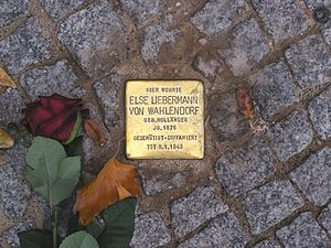 Stolperstein in Berlin (aus Wikipedia)