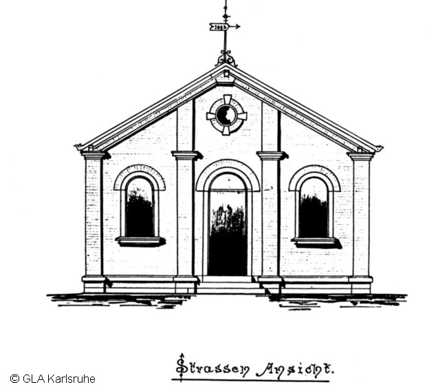 Frontelevation of the Synagogue, Drawing by W.Dick, 1892