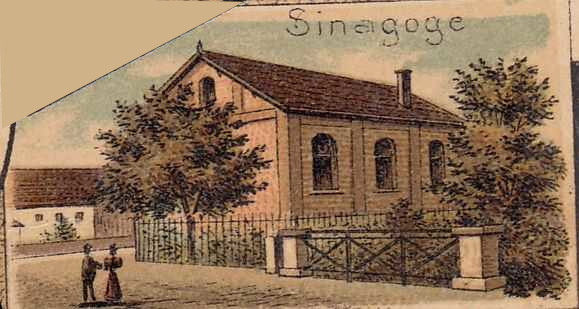 The synagogue on a poscard from 1898
