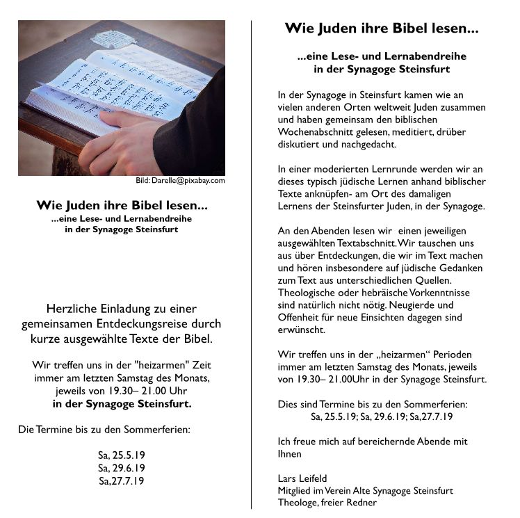 Einladungs-Flyer